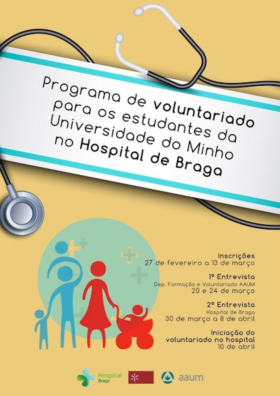 AAUM e Hospital de Braga juntos em projeto de voluntariado
