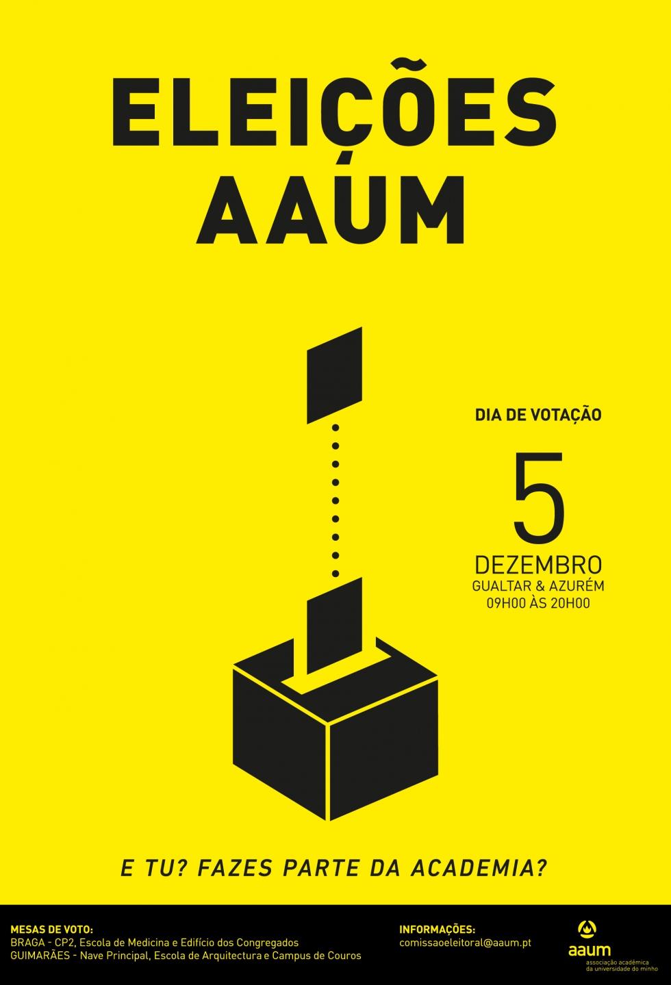 Eleições dos Órgãos Sociais da AAUM - Mandato 2018